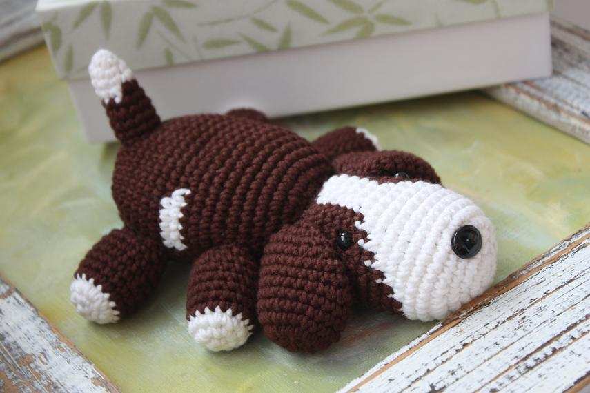 Crochet Patterns Tutorial : ... : Amigurumi Puppy PATTERN - Crochet Dog Pdf Tutorial - now available