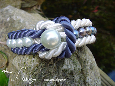 Sailor's bracelet from ropes and beads by Gunadesign