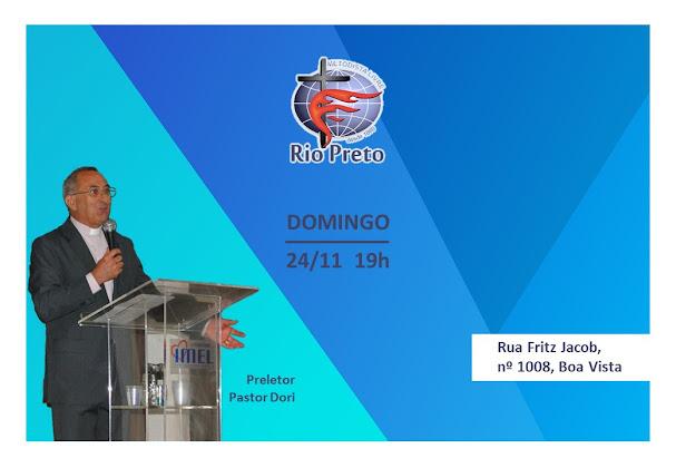 Domingo - 24/11 19h com Pastor Dori