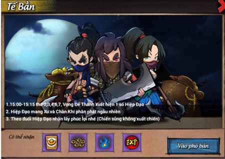 Hướng dẫn tham gia hoạt động Tế Bần trong game Lãng Khách