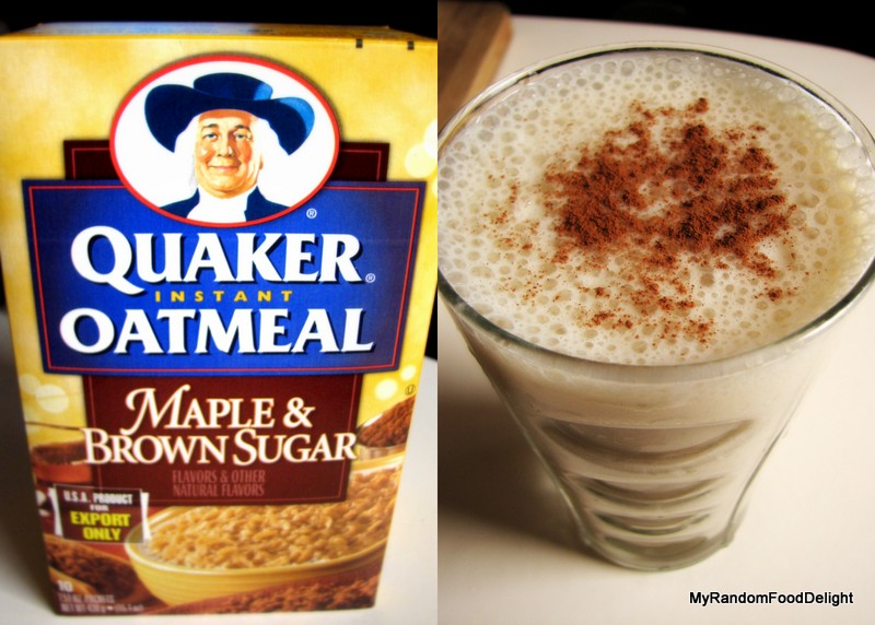 My Random Food Delight: Quaker Instant Oatmeal: Maple and ... Quaker Instant Oatmeal Maple And Brown Sugar
