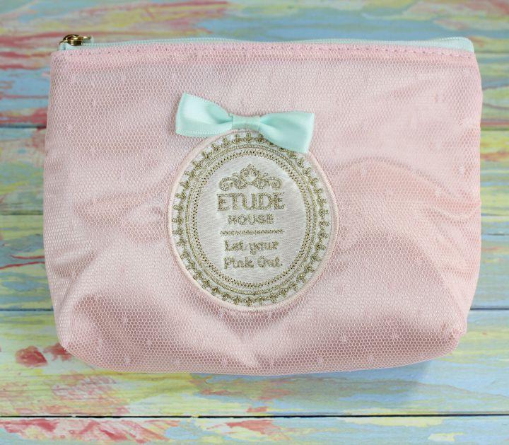 Etude House Let Your Pink Out princess makeup bag