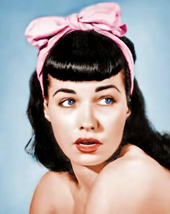Fotos de cabelos anos 50 Bettie Page