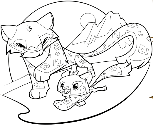 Animal Jam Coloring Pages Snow Leopard : Free coloring pages of animal jam snow leopard