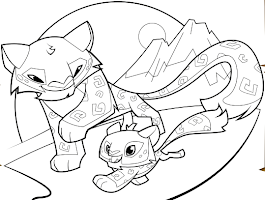 Desert Animals Coloring Fox