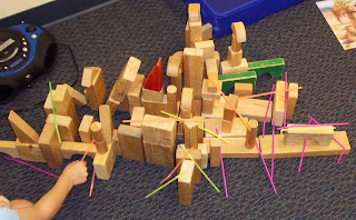 straws in the blocks center (Brick by Brick)