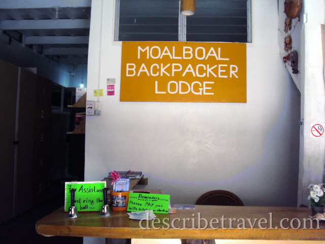 moalboal backpacker lodge reception