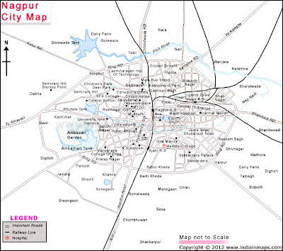 Nagpur City Map India In Maps
