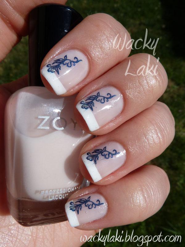Wacky Laki: Zoya Sabrina Starring in a French Manicure...