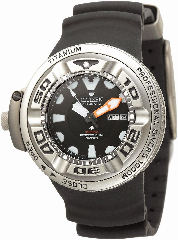 Swiss design watches divers watch citizen promaster autozilla 1000m titanium - Citizen promaster dive watch ...