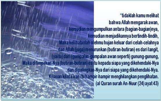 Image result for ayat alquran tentang hujan