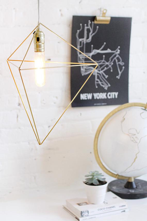 Brass himmeli pendant diy tutorial by I Spy Diy