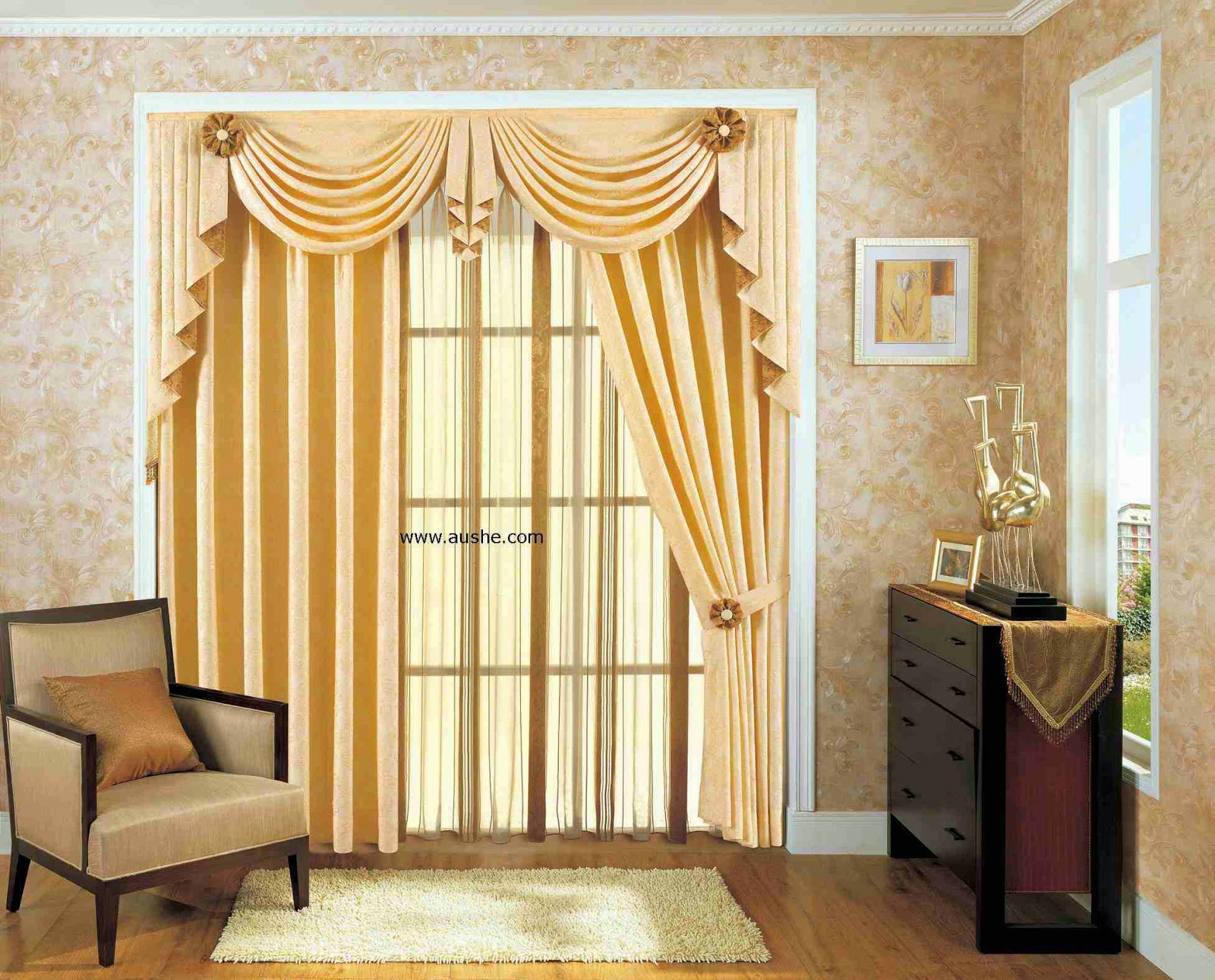 Home decorating interior design ideas contemporary for Interior curtain designs