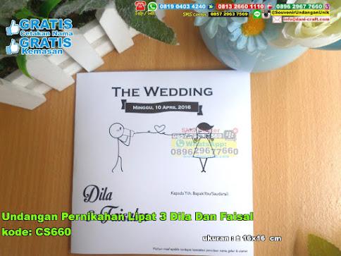 Undangan Pernikahan Lipat 3 Dila Dan Faisal 3295