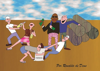 cartun, cartoon, Ronaldo de Deus, educadores de Portel, feira da farinha, tributos, madeira