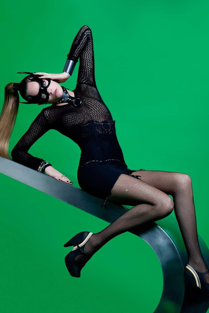 Cara Delevingne as batgirl in Melissa and Karl's campaign.