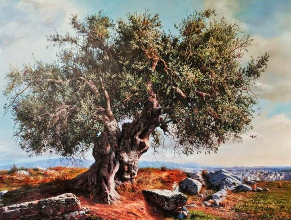 arboles-gigantes-en-paisajes-pintados-con-oleo