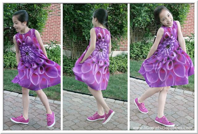 KidCuteTure Fiona Rosebud Dress for Summer     www.3Garnets2Sapphires.com