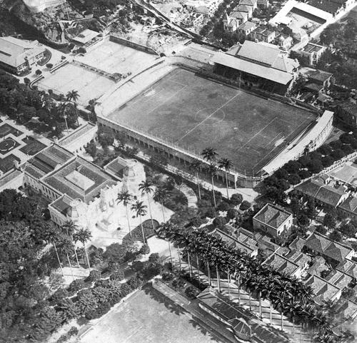 Estádio das Laranjeiras, Palácio Guanabara e um pedaço do Estádio ...