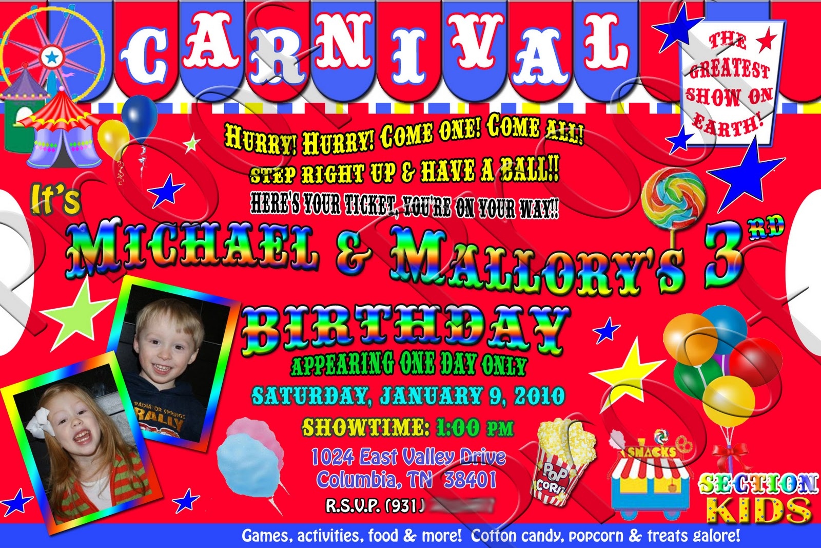 Carnival Birthday Party Invitations correctly perfect ideas for your invitation layout