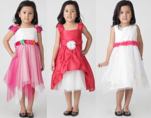 model baju pesta anak perempuan modern