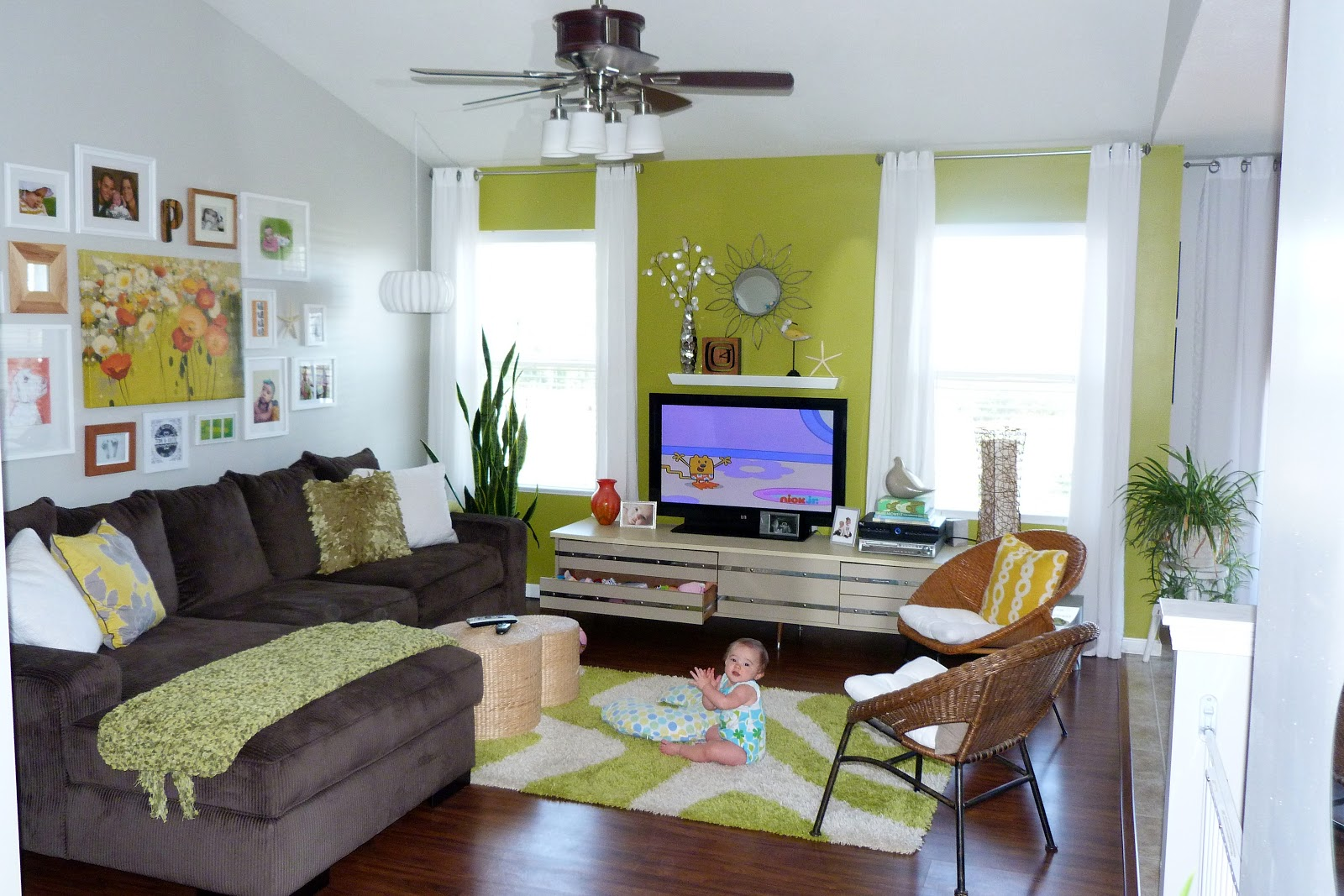 Living Room Decor Sneira Modern Home You Should Paint Everything Lime Green