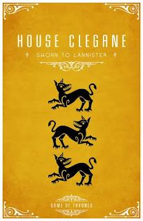 emblema casa Clegane - Juego de Tronos en los siete reinos