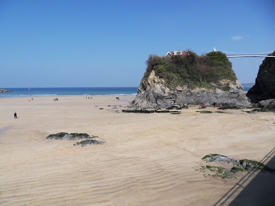 Beach at Newquay Cornwall