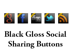 Black+Gloss+Social+Sharing+Buttons