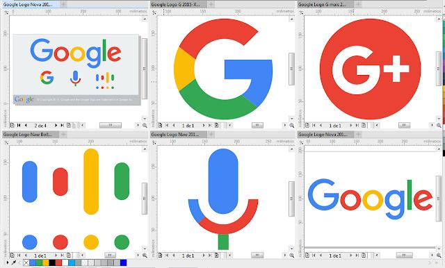Google Novo Logo Vector in CorelDraw