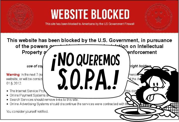 NO queremos SOPA