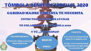 COLABORACIÓN TÓMBOLA BENÉFICA VIRTUAL 2020