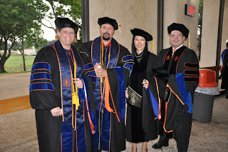 Four of the Ph.D. graduates include (l to r) Kim Schnurbush, Robert Pullin, Ji Seun Sohn and Hector Garcia.