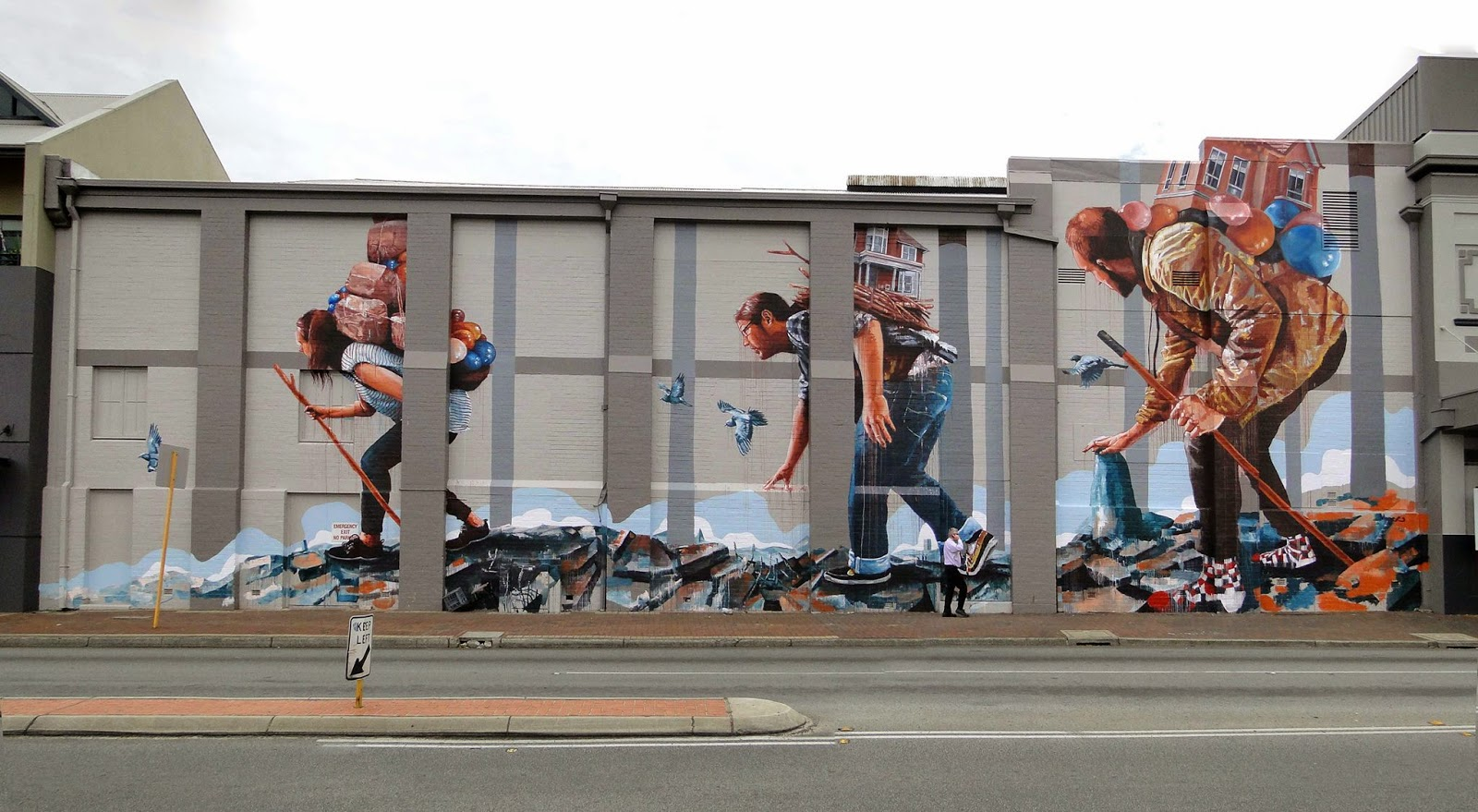 Fintan magee paints the migration a new mural in perth for Australian mural artists