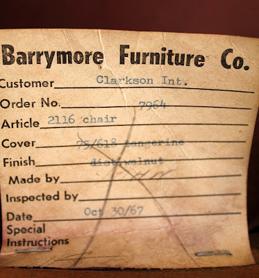 Vintage Furniture Tag