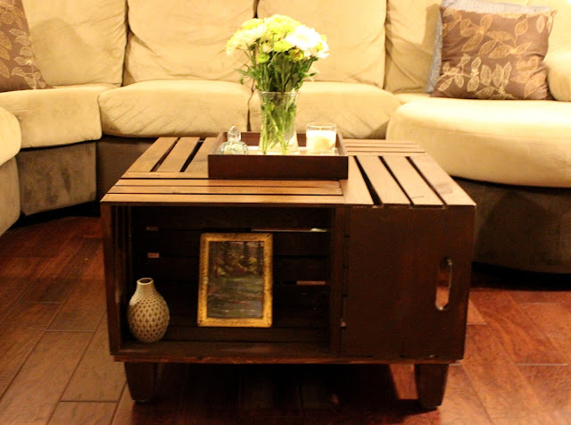 how to make a coffee table out of wooden crates