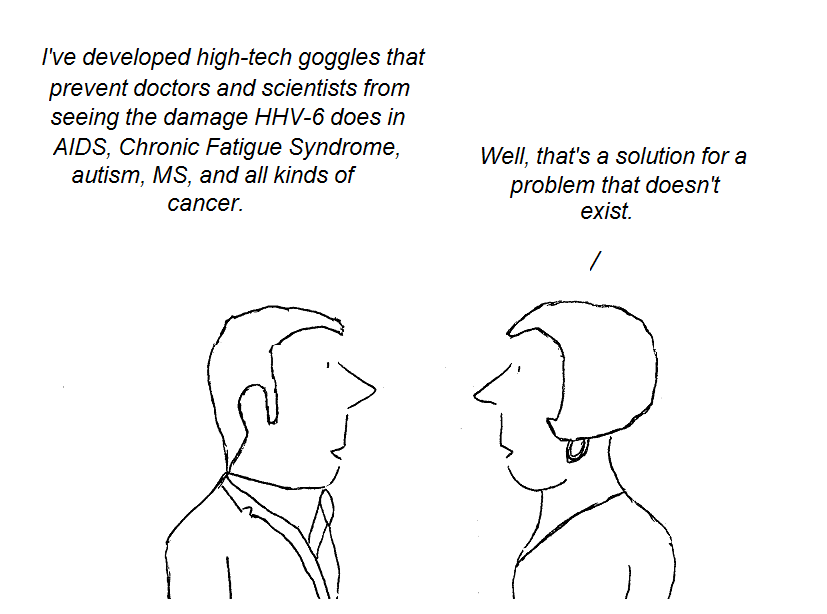 cartoon, aids, ms, cfs, chronic fatigue syndrome, cancer, gallo, ablashi
