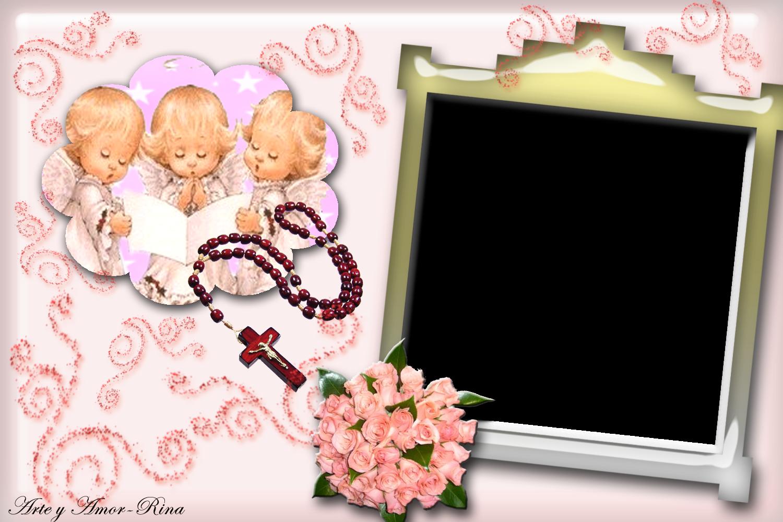 Arte y amor: Complaciendo a Claudia un marco de comunión para nena