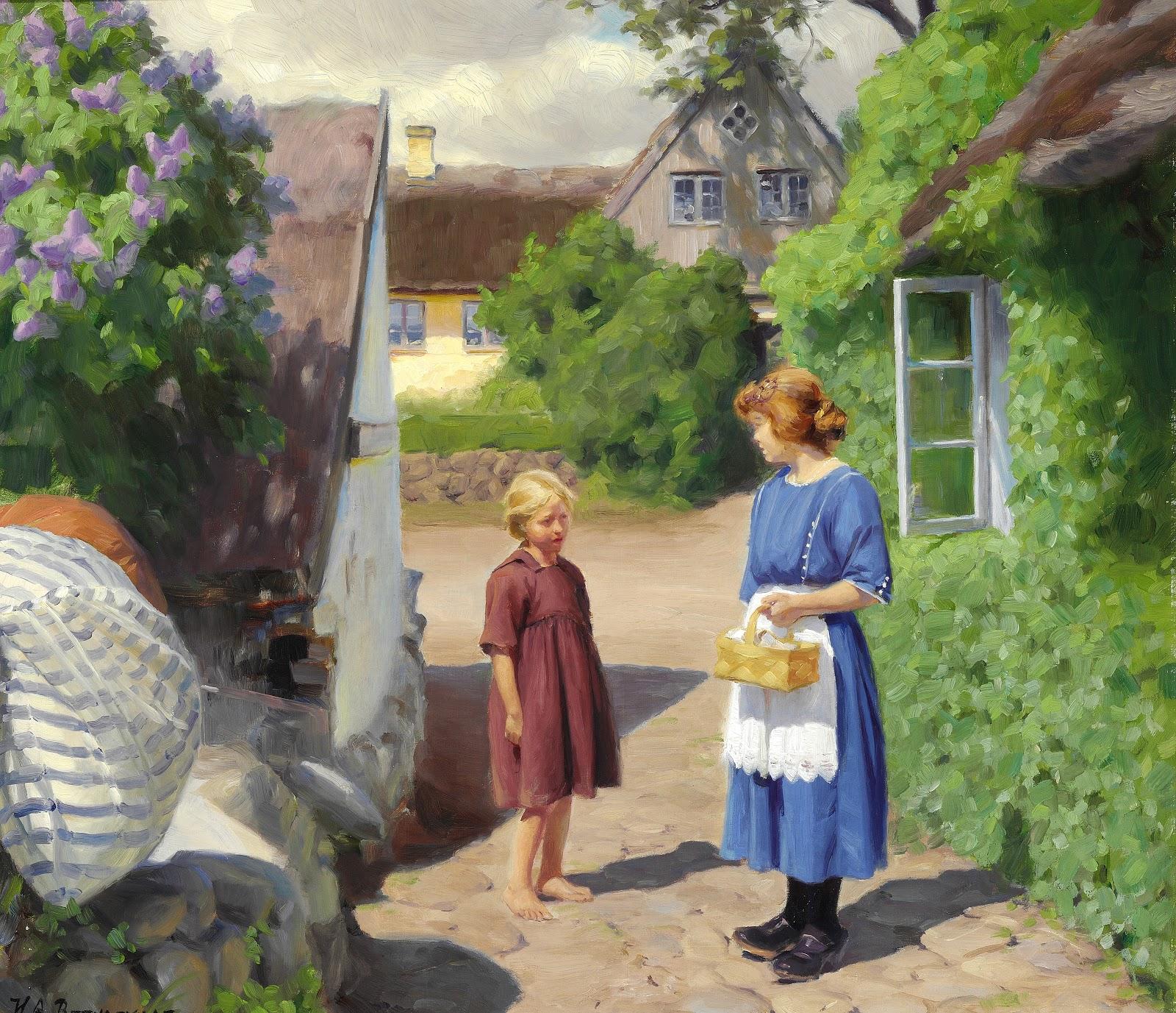 Hans Andersen  rendekilde Sommerdag i Jyllinge med to piger