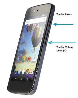 Cara Screenshot HP Evercoss One X Android One