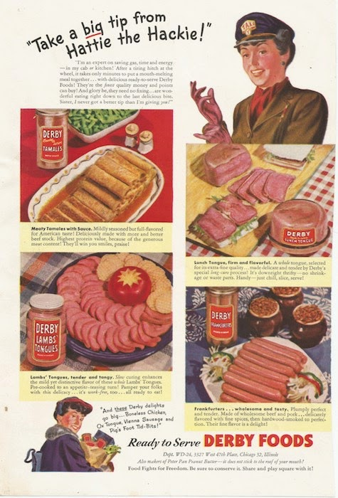 Woman's Day ad from 1944 Derby meat products