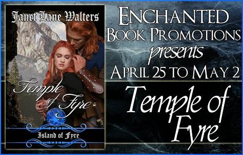 enchanted book promotins, jane lane walters, temple of fyre, fantasy romance