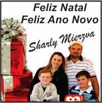 Virmond:Sharly Mierzva e Família deseja a todos um Feliz natal e um próspero ano novo