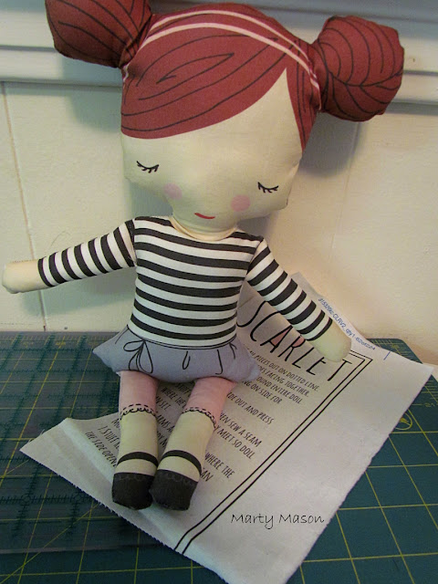 Cut on the dotted line, sew, stuff and enjoy