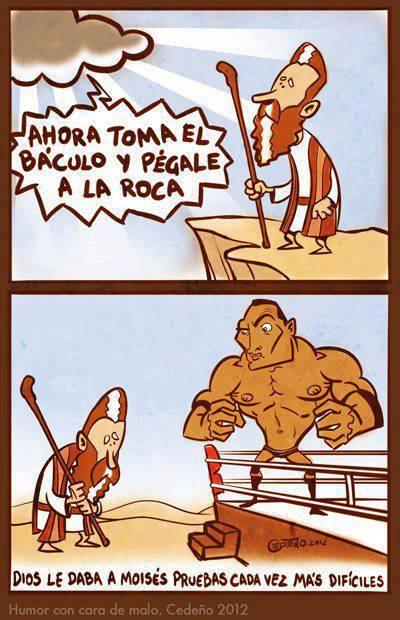 Moisés y La Roca cuentos de la biblia wwe lucha libre