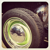 Wheel with green accents