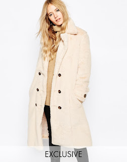 Story Of Lola Longline Teddy Bear Faux Fur Coat