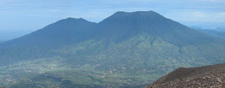 Singgalang Mountain Seen from Mount Marapi