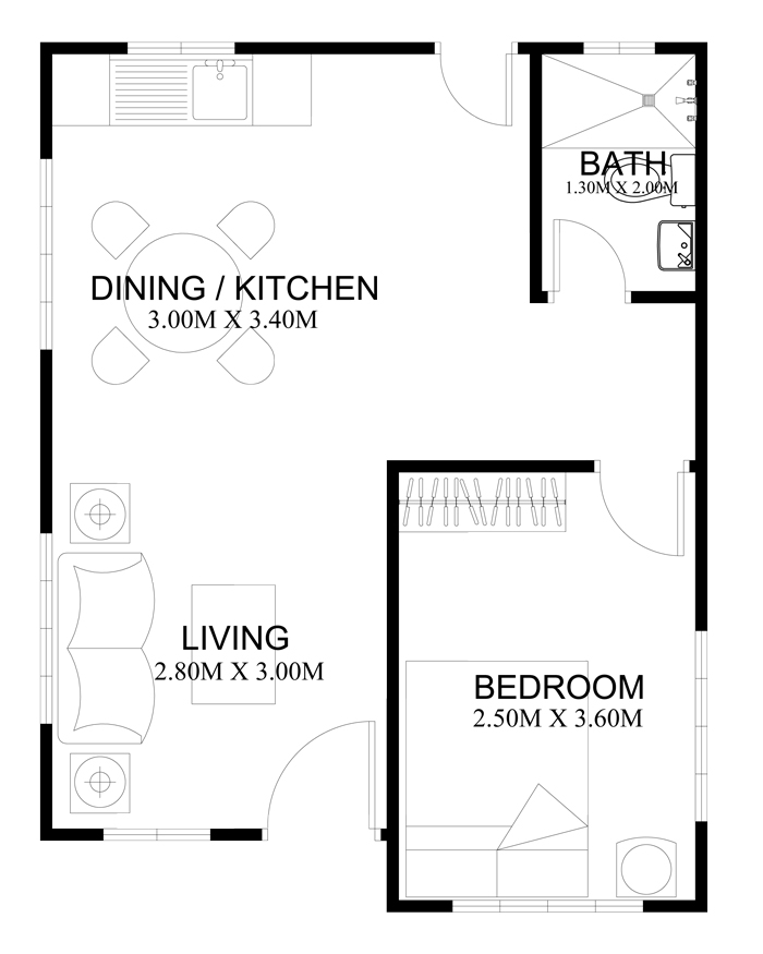 Free estimate of small bungalow house bahay ofw for Floor plans for 160 000