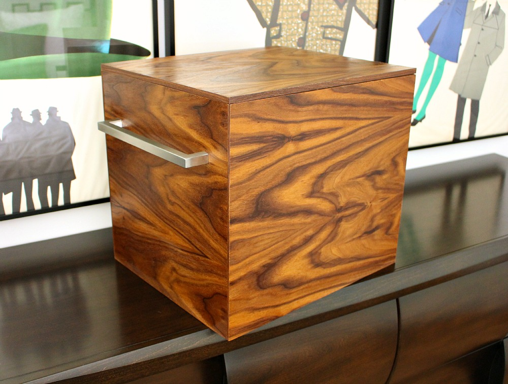 DIY walnut storage box with lid